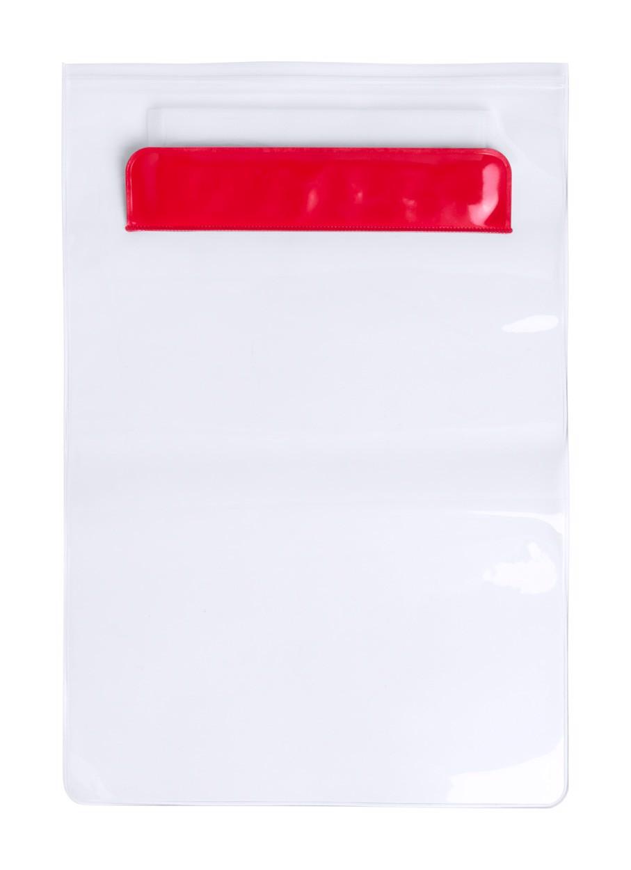 Husă Tabletă Kirot - Roșu / Transparent