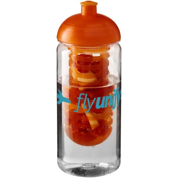 H2O Octave Tritan™ 600 ml dome lid bottle & infuser - Transparent / Orange