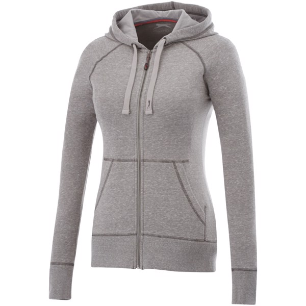 Groundie full zip ladies hoodie - Grey Melange / M