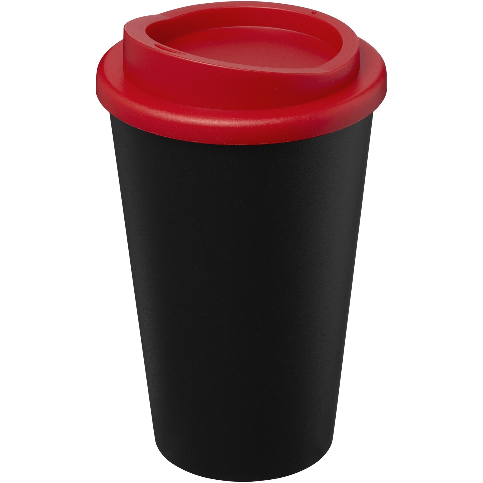 Americano Eco 350 ml recycled tumbler - Solid Black / Red