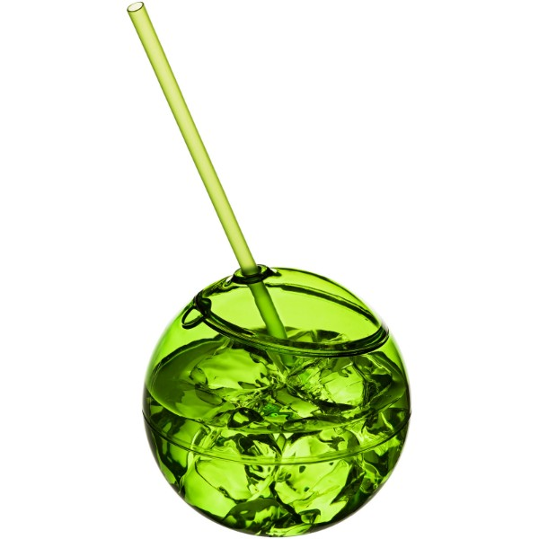 Fiesta 580 ml beverage ball with straw - Lime