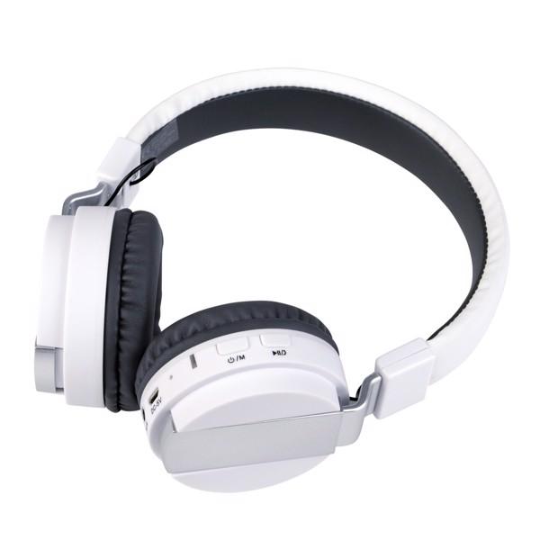 Bezdrátové Sluchátka Free Music / Bílá