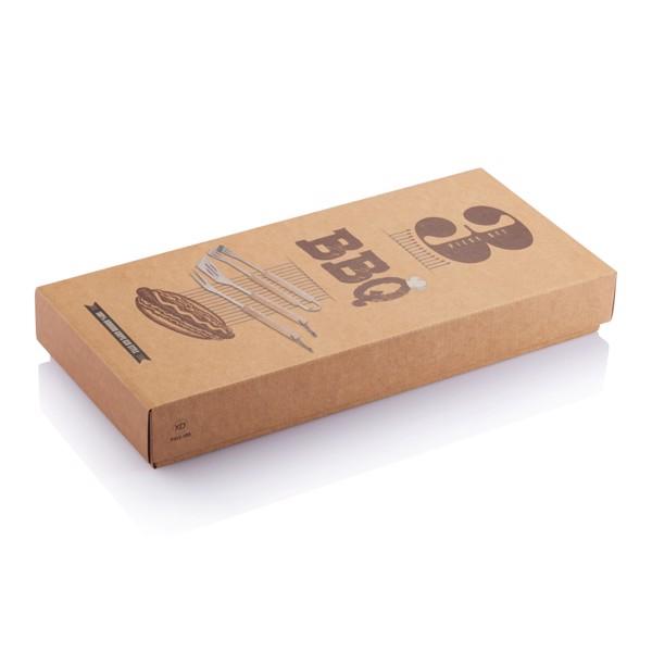 3 db-os bambusz grillező készlet
