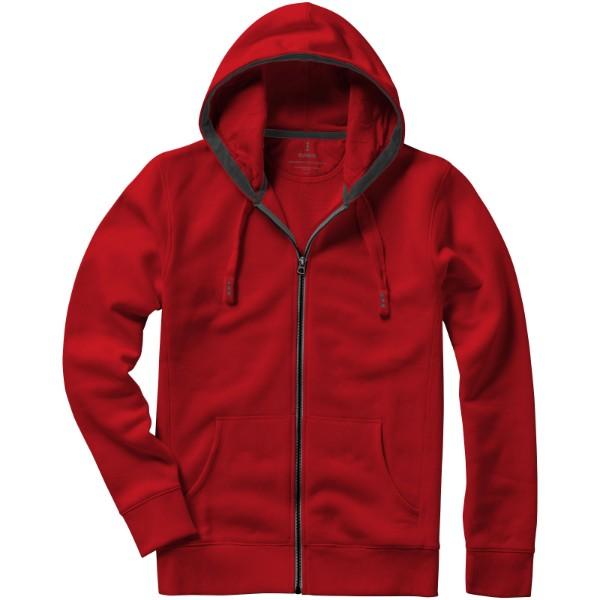 Mikina Arora s kapucí, zip v celé délce - Červená s efektem námrazy / L