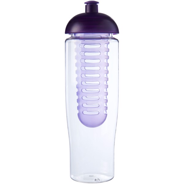 H2O Tempo® 700 ml dome lid sport bottle & infuser - Transparent / Purple