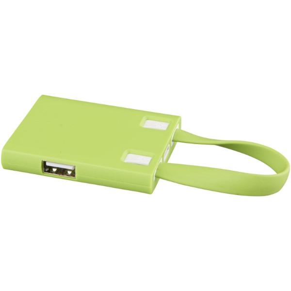 """Hub de 3 puertos USB y cables 3 en 1 """"Revere"""" - Lima"""