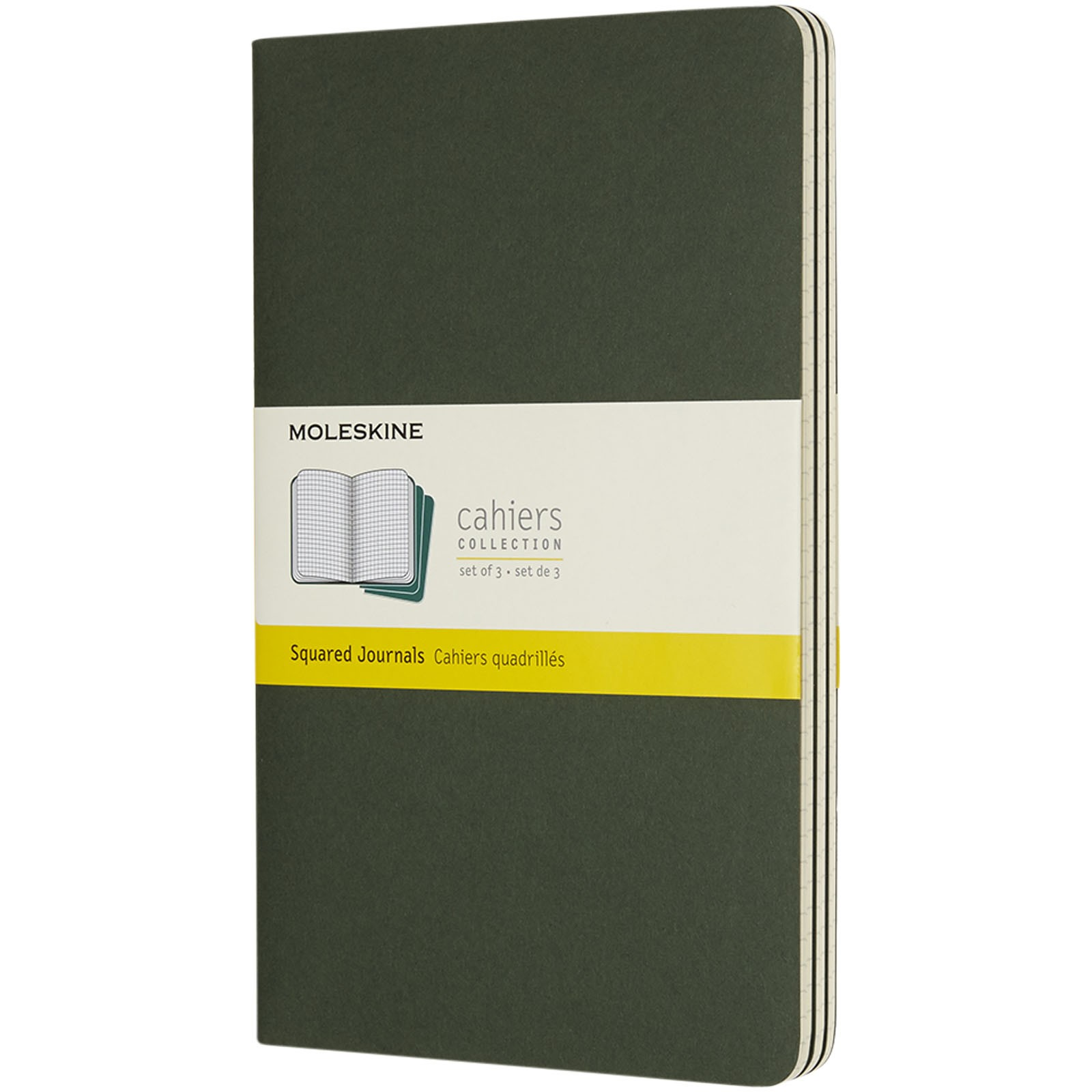Cahier Journal L - squared - Myrtle green
