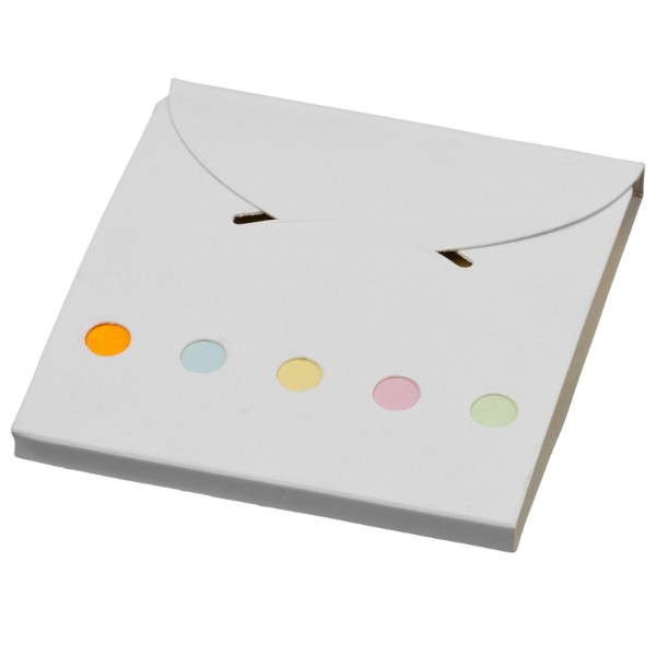 Deluxe coloured sticky notes set - White