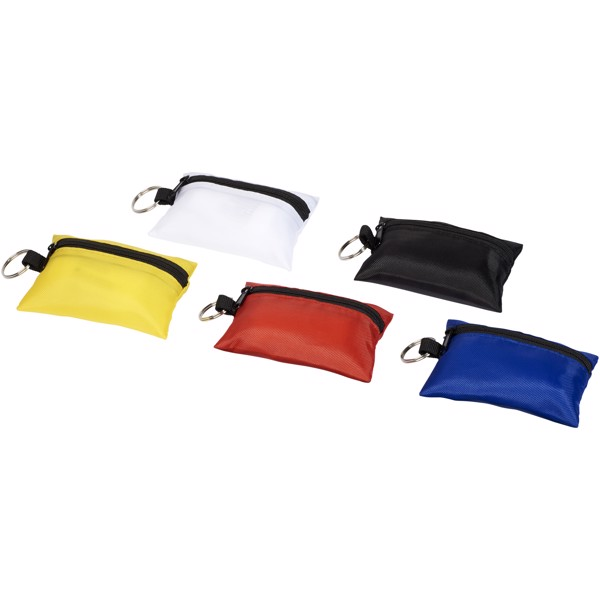 Valdemar 16-piece first aid keyring pouch - White