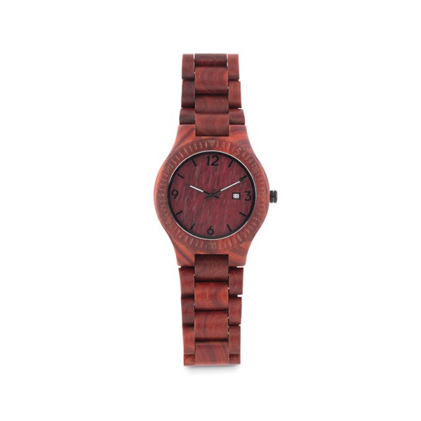 Wooden Watch in box San Gallen - Brown
