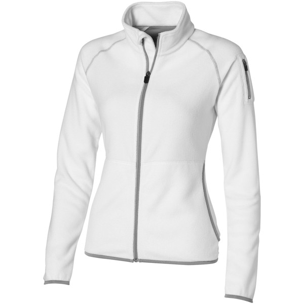 Damska bluza mikropolarowa Drop - Biały / XL