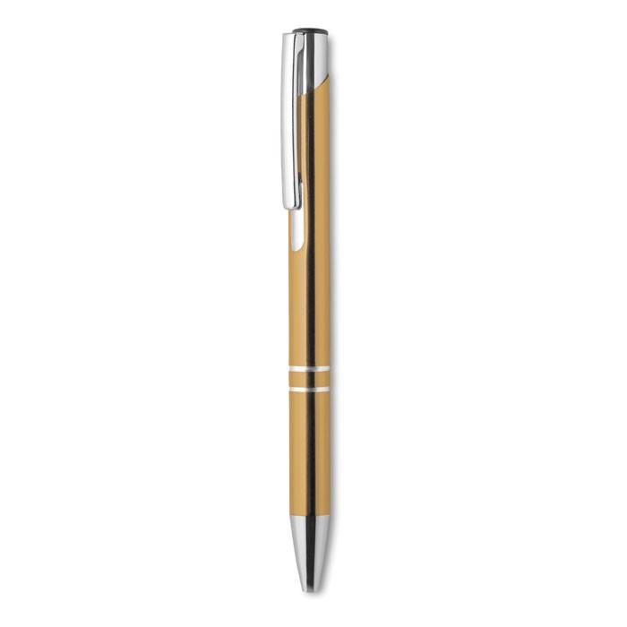 Push button aluminium pen Bern - Gold