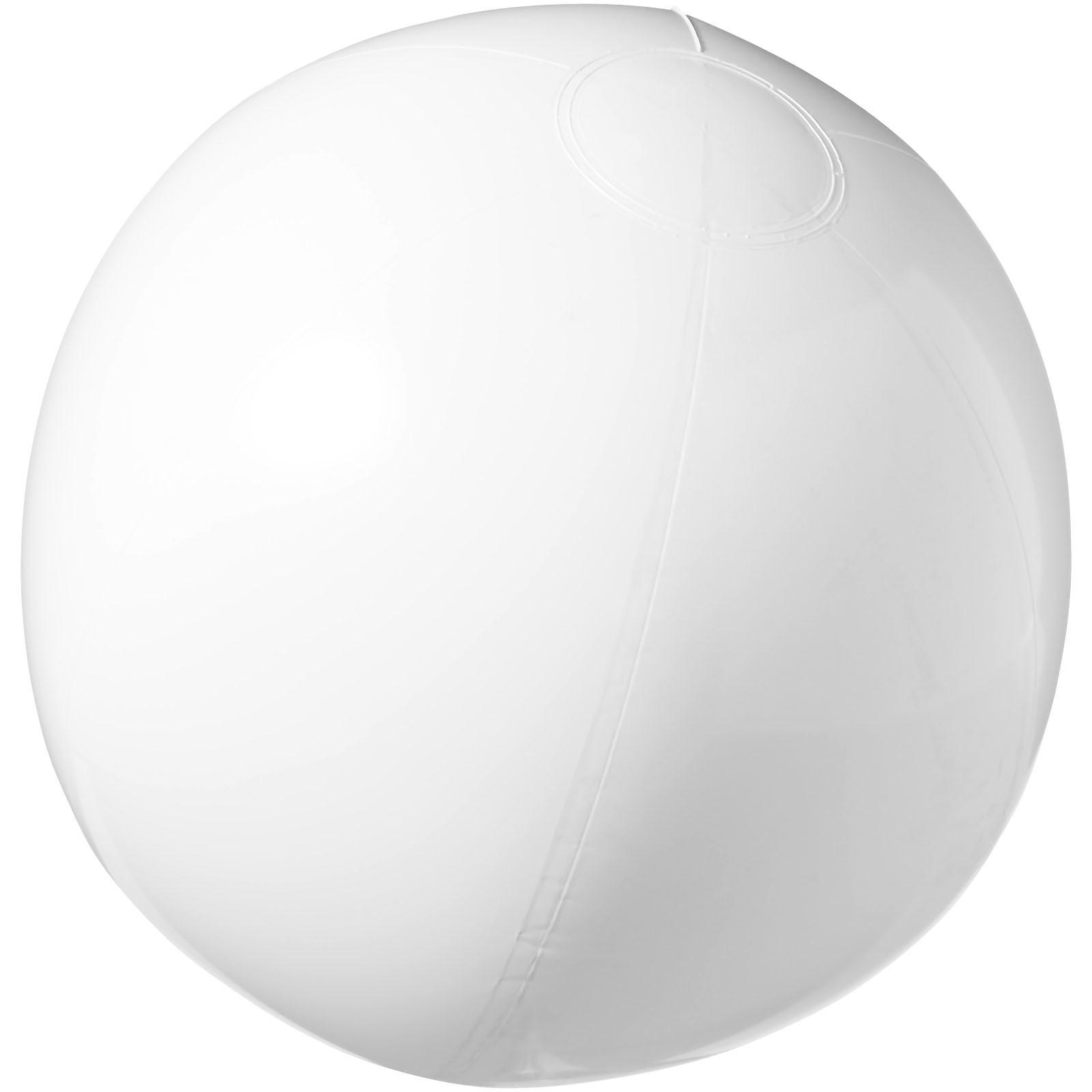 Neprůhledný plážový míč Bahamas - Bílá