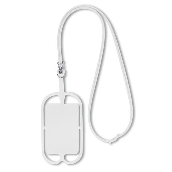 Silikonowy uchwyt na smartfona Silihanger - biały