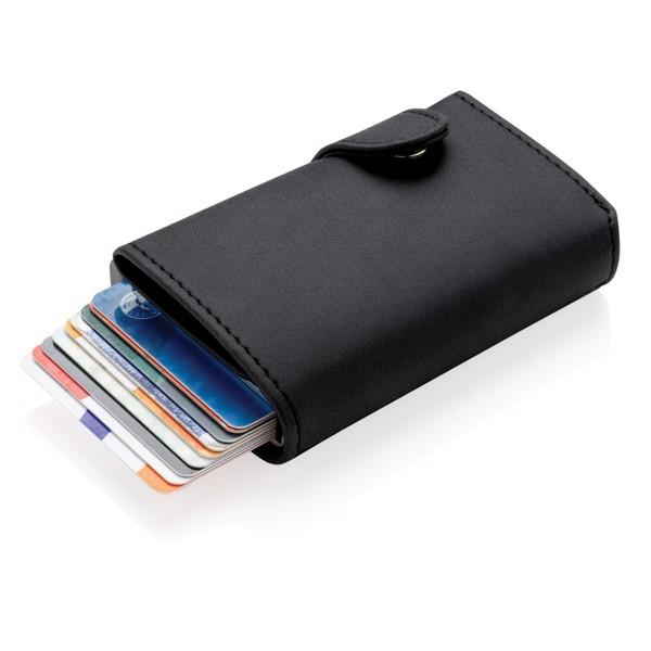 Tarjetero RFID de aluminio estándar con billetera de PU
