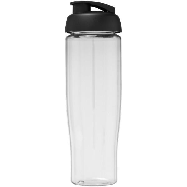 H2O Tempo® Bidón deportivo con Tapa Flip de 700 ml - Transparente / Negro intenso