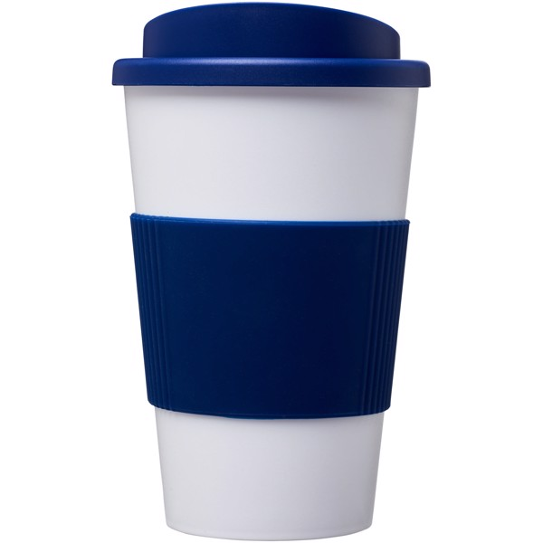 Americano® 350 ml insulated tumbler with grip - White / Blue