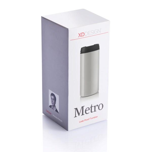 Termohrnek Metro - Bílá / Černá