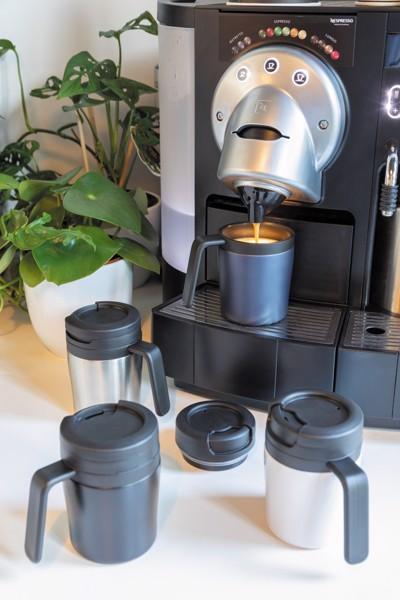 Coffee to go bögre - Ezüst Színű