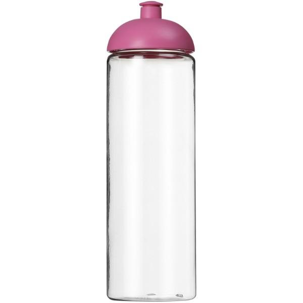 H2O Vibe 850 ml sportovní lahev s kupolovitým víčkem - Průhledná / Růžová