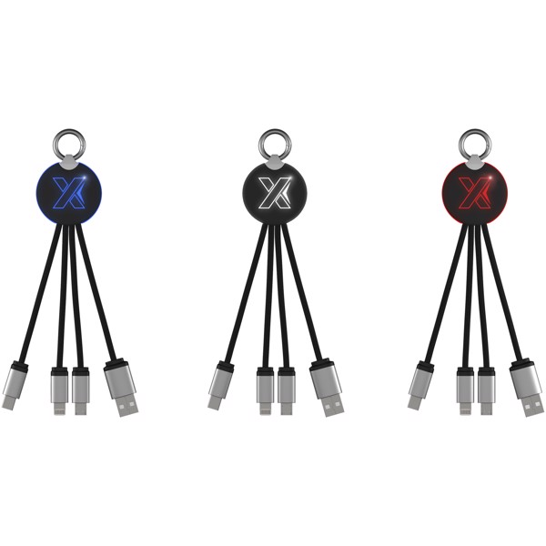 SCX.design C16 ring light-up cable - Solid Black / Blue