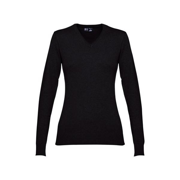 MILAN WOMEN. Women's V-neck jumper - Black / S