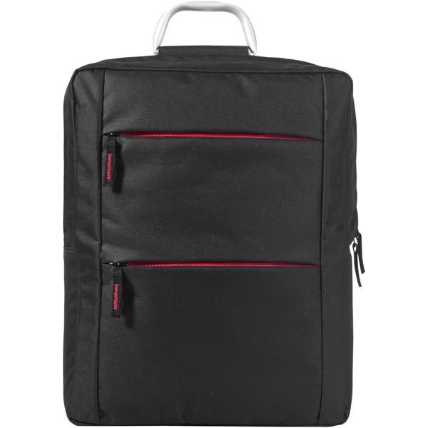 """Boston 15,6"""" Laptop-Rucksack - Schwarz / Rot"""