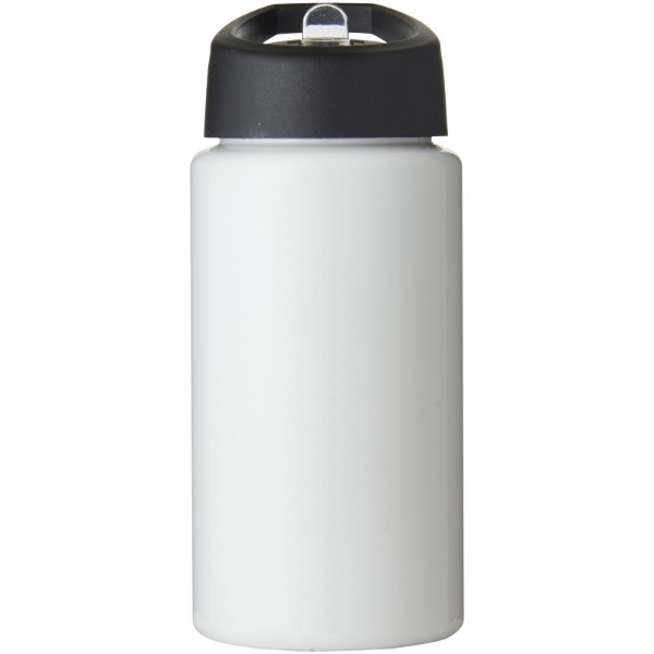H2O Bop 500 ml spout lid sport bottle - White / Solid black