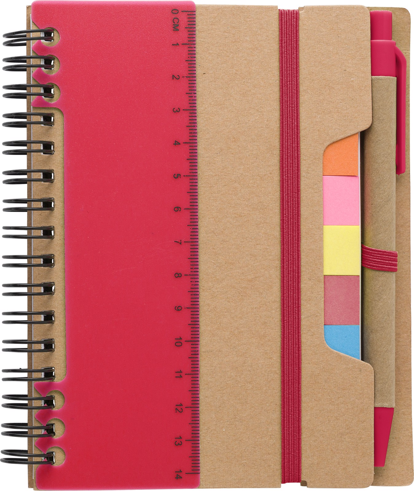 Recycled paper notebook - Red
