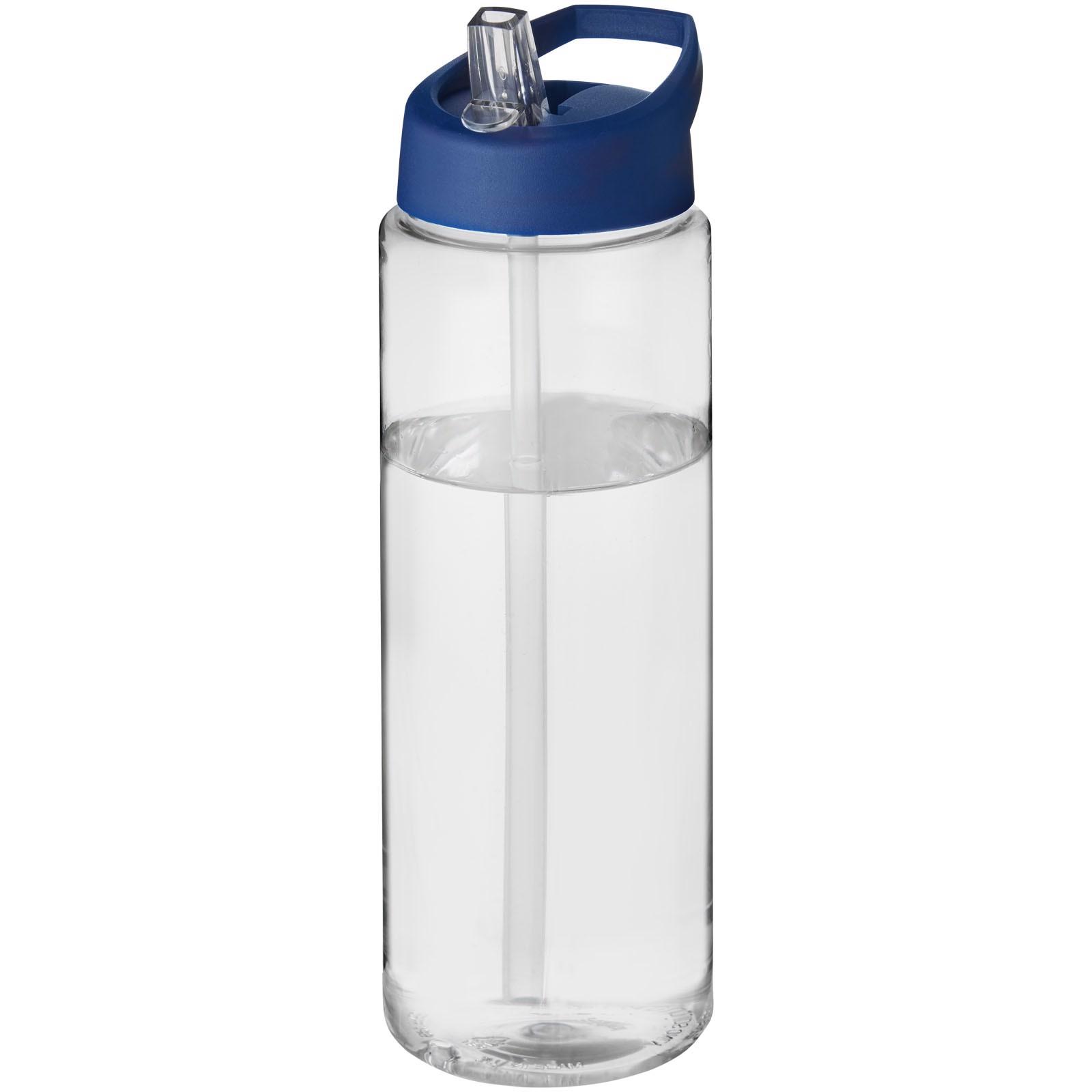 H2O Vibe 850 ml sportovní lahev s víčkem s hubičkou - Průhledná / Modrá