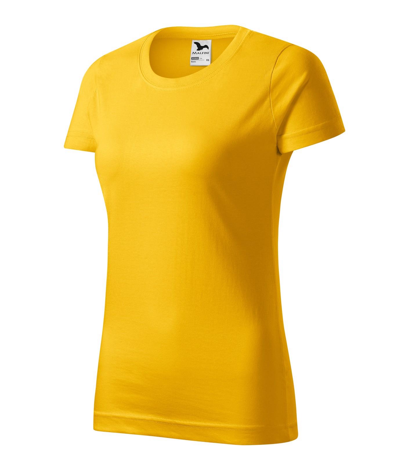 T-shirt women's Malfini Basic - Yellow / 2XL