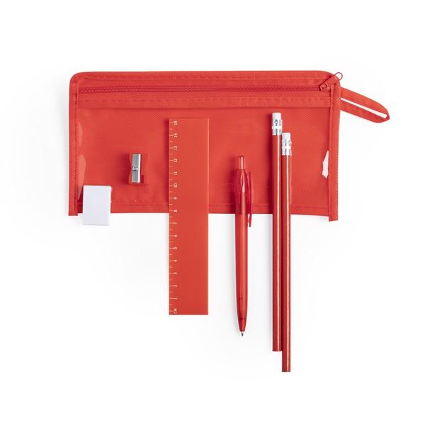 Set Estuche Baiku - Rojo