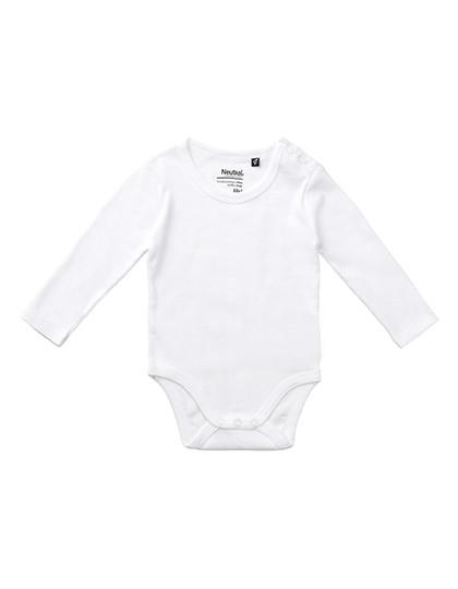 Babies Long Sleeve Bodystocking - White / 86