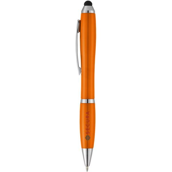 Nash stylus ballpoint pen with coloured grip - Orange