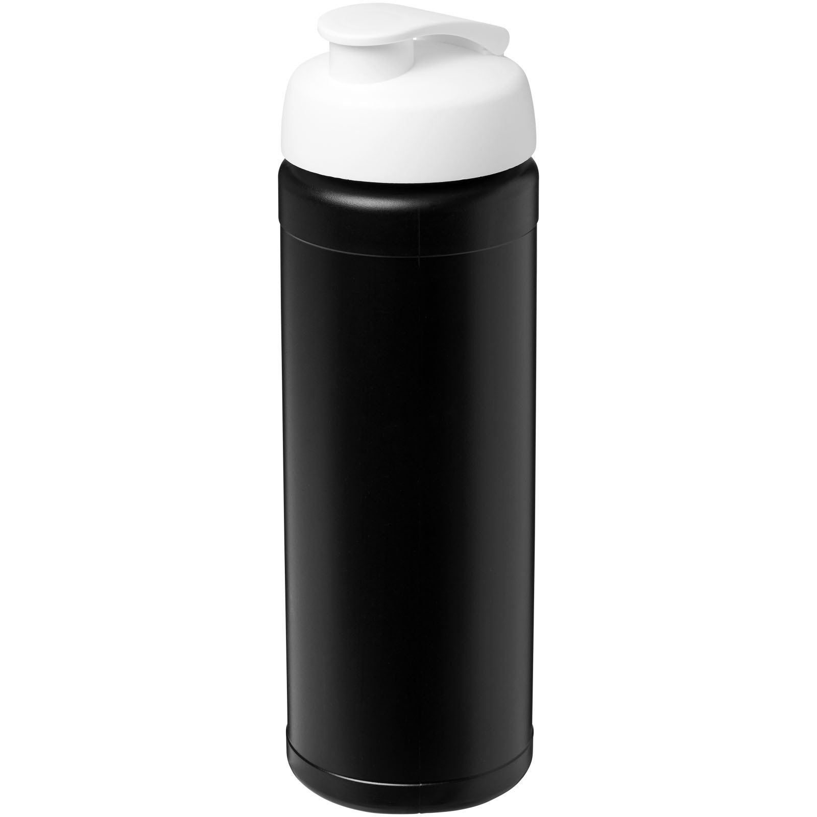 Baseline® Plus 750 ml Flasche mit Klappdeckel - Schwarz / Weiss