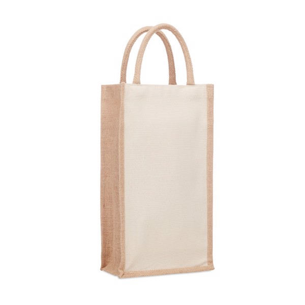 Jute wine bag for two bottles Campo Di Vino Duo