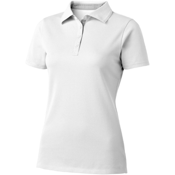 Hacker short sleeve ladies polo - White / Grey / L