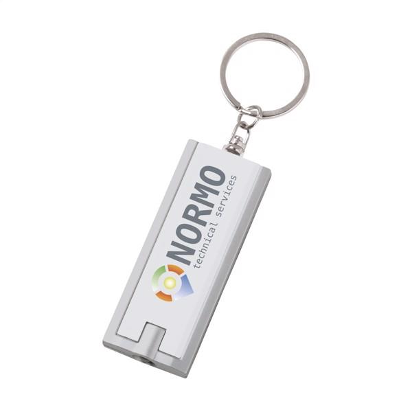 FlatScan keyring - White / Silver