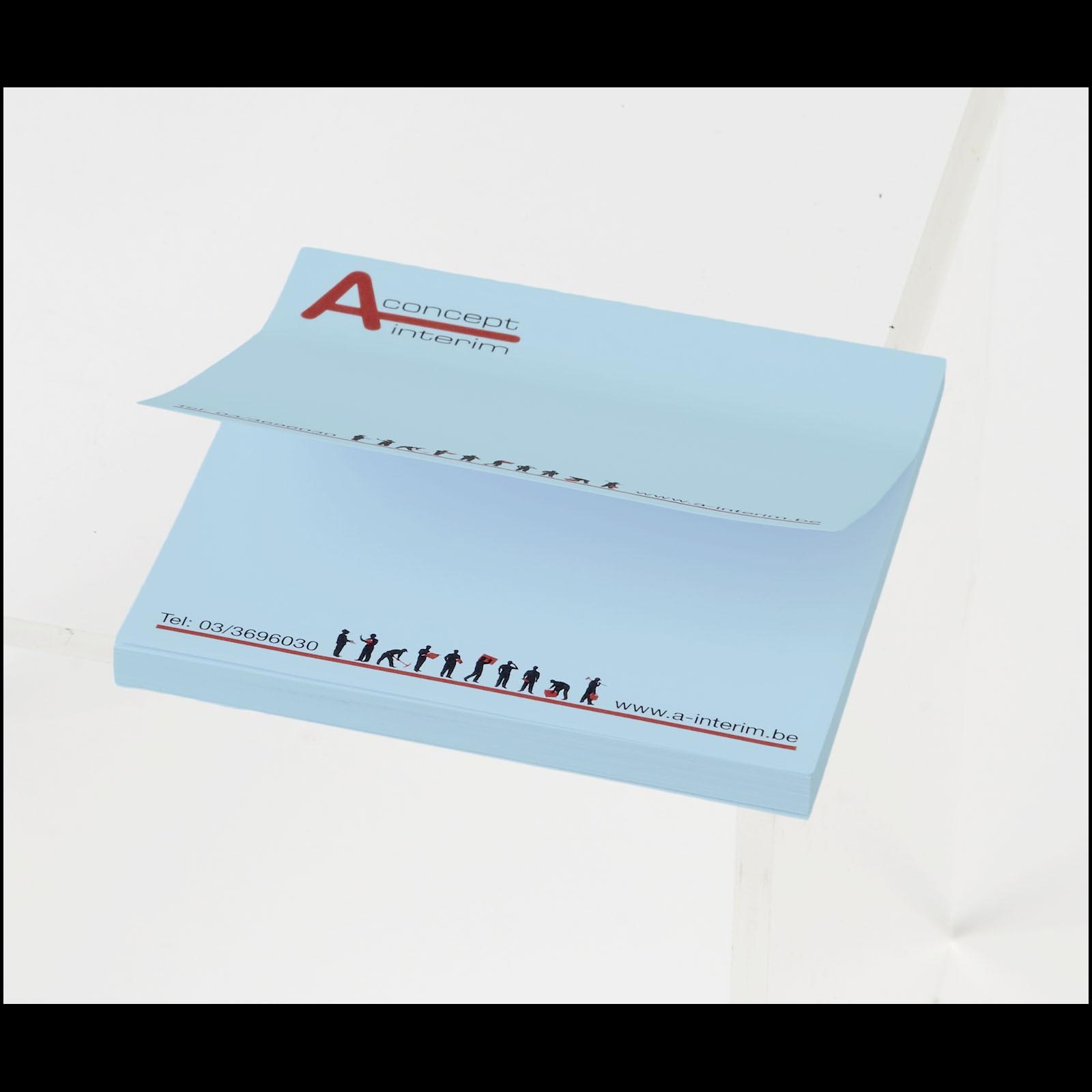 Samolepicí lístečky Sticky-Mate® 75x75mm - Světle modrá / 50 pages