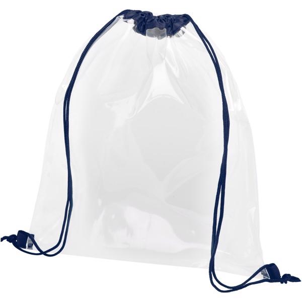 Lancaster transparent drawstring backpack - Navy / Transparent Clear