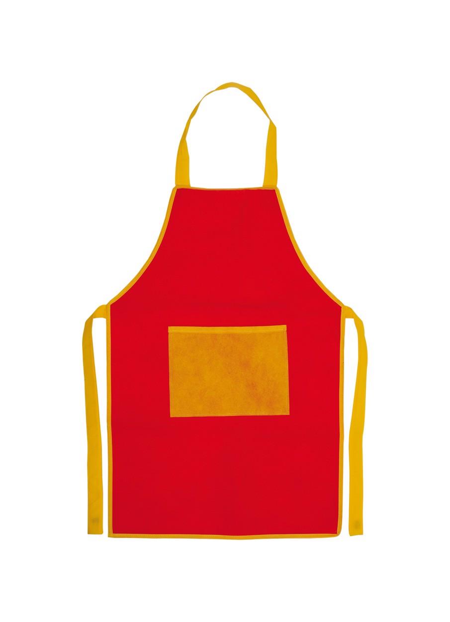 Apron For Children Nono - Red / Yellow