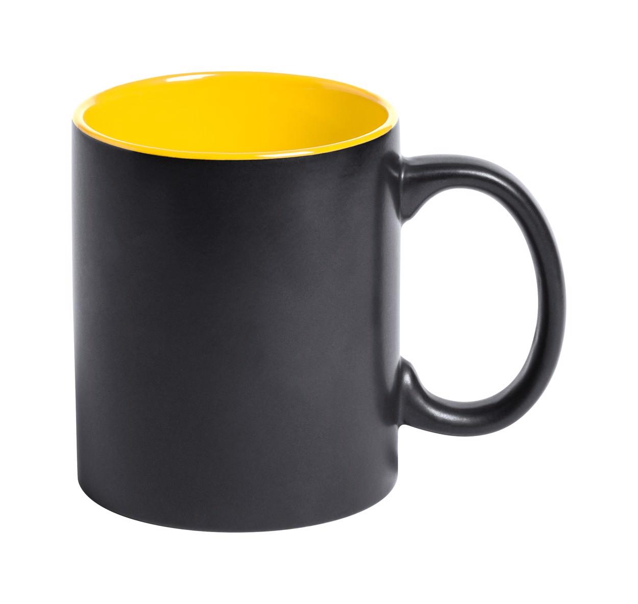 Hrnek Bafy - Černá / Žlutá