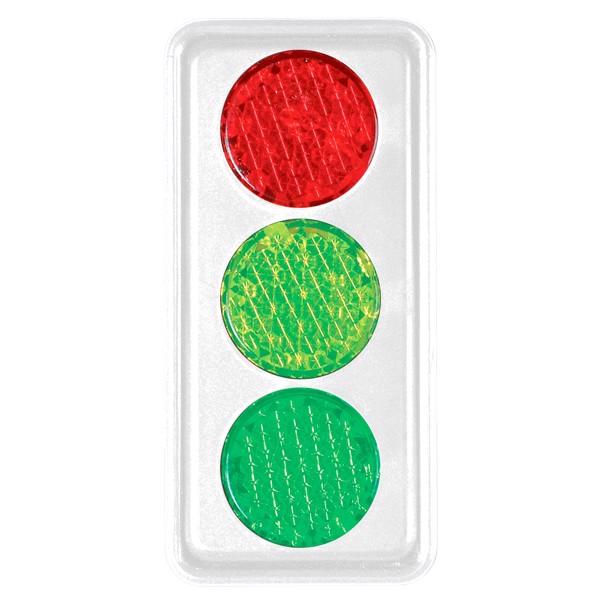 """Reflector """"Traffic Light"""" - White"""