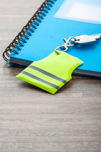 Mini Reflective Vest Keyring Pit Lane - Yellow