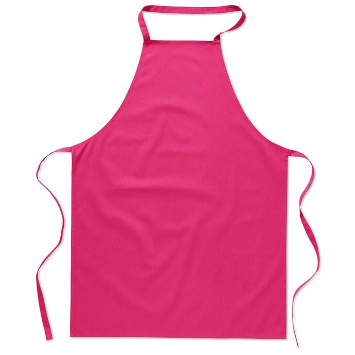 Kitchen apron in cotton Kitab - Fuchsia