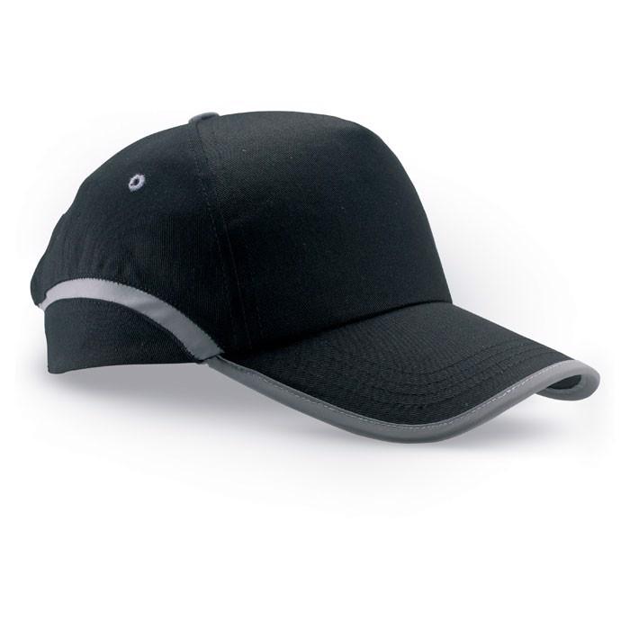 Czapka baseballowa z lamówką Visinatu - czarny