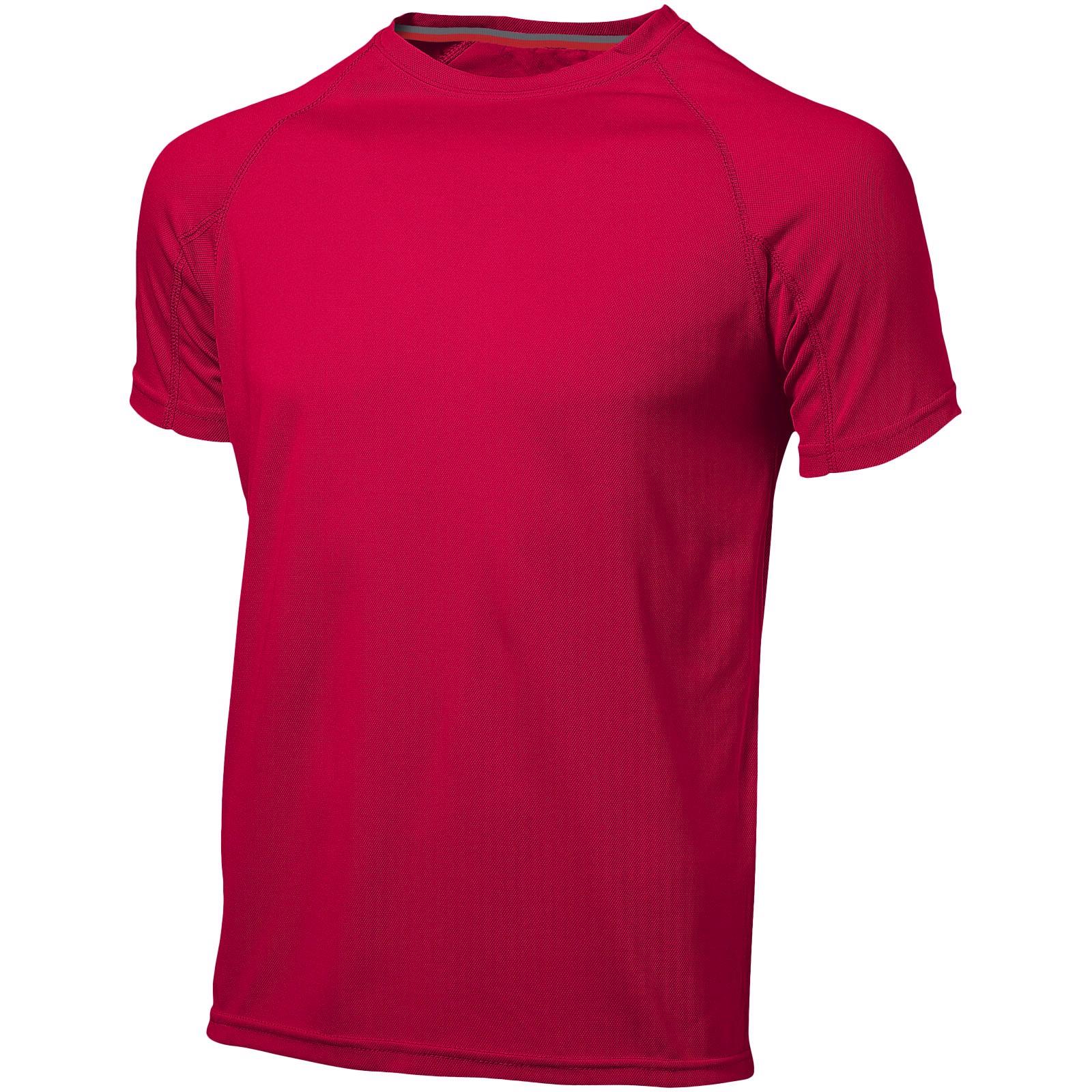 Pánské triko Serve s krátkým rukávem, s povrchovou úpravou - Red / XXL