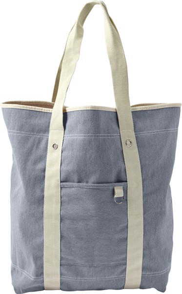 Cotton twill (350 gr/m²) beach bag - Light Blue