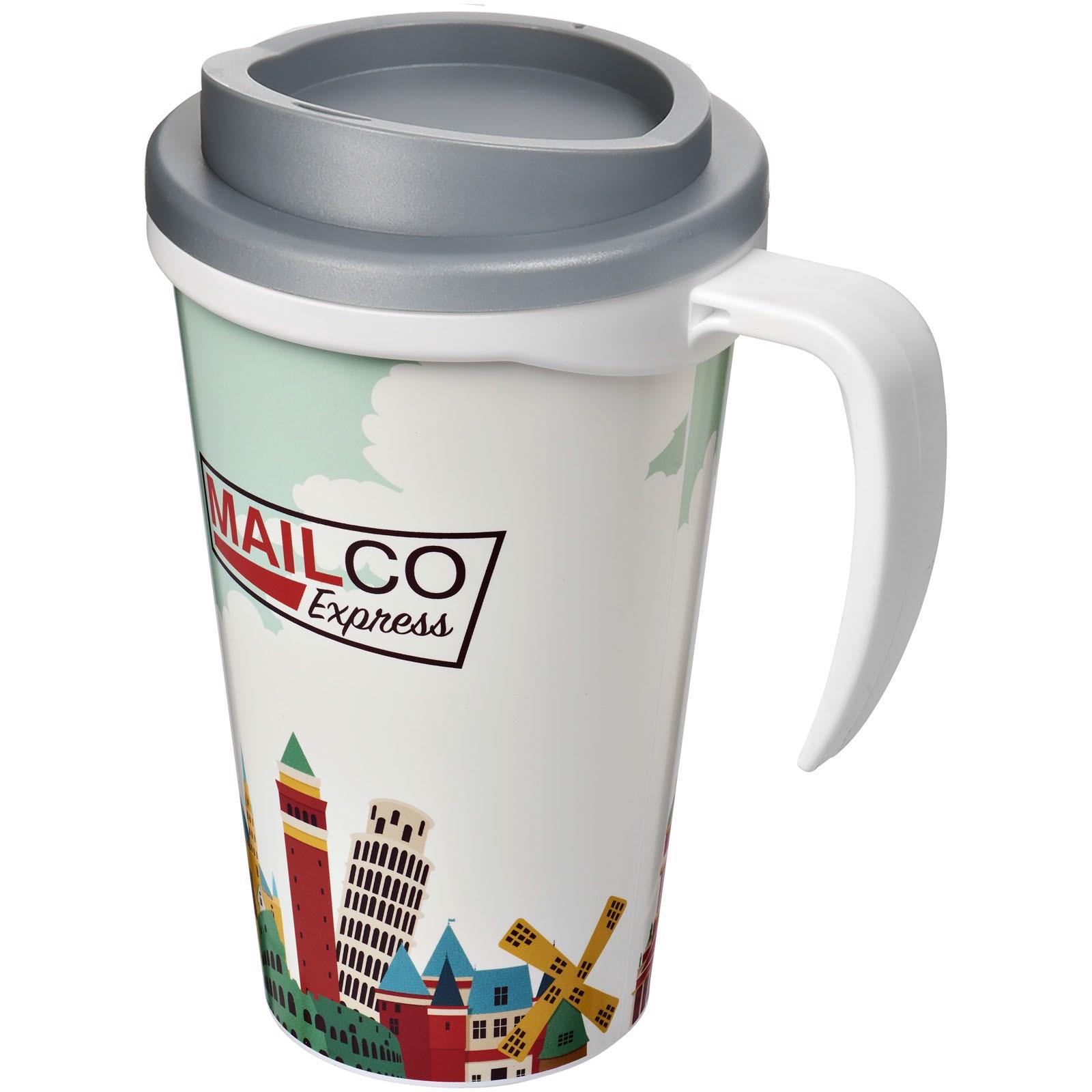 Brite-Americano® Vaso térmico grande de 350 ml - Blanco / Gris