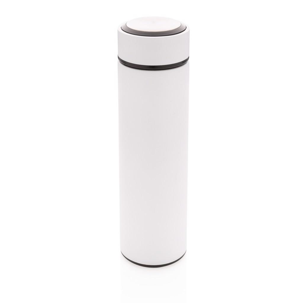 Termo lahev z nerezavějící oceli - Bílá / Bílá
